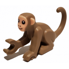 LEGO 77864pb01 Monkey / aapje with Light Nougat Face and Ears Pattern