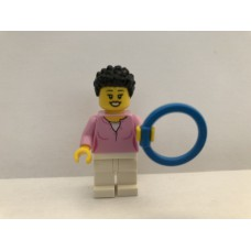 LEGO cty1018 Mom - Bright Pink Female Top, White Legs, Black Hair Coiled and Short