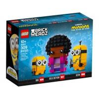 LEGO 40421 Minions BrickHeadz Belle Bottom, Kevin en Bob