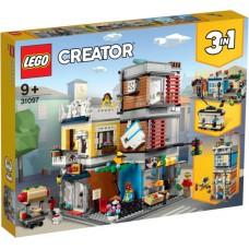 LEGO 31097 Woonhuis, Dierenwinkel & Café