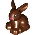 Duplo 30217 dupbunnyc01pb01 Bunny Rabbit with Black Eyes and Pink Nose Pattern.
