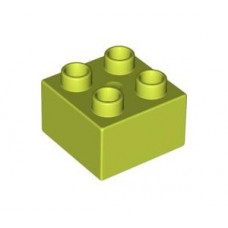 LEGO Duplo 3437 Brick 2 x 2 LIME