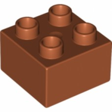 LEGO 3437 31460 Duplo, Brick 2 x 2 Dark orange