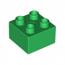 LEGO 3437 31460 Duplo, Brick 2 x 2 bright green