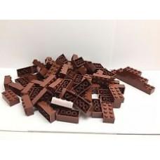 Lego blokje  Bruin Purple graveren met naam en ingekleurd