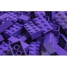 Lego blokje  Donker Paars  Dark Purple graveren met naam en ingekleurd