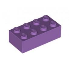 Lego blokje  Lavendel graveren met naam en ingekleurd