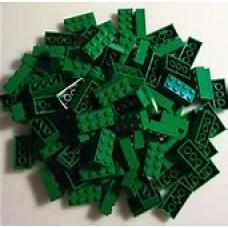 Lego blokje  Groen graveren met naam en ingekleurd