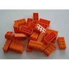 Lego blokje  Rood graveren met naam en ingekleurd
