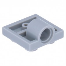 LEGO 10247 Light Bluish Gray Plate, Modified 2 x 2 with Pin Hole - Full Cross Support Underneath