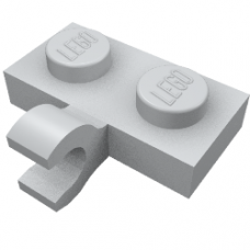 LEGO 11476 Light Bluish Gray Plate, Modified 1 x 2 with Clip Horizontal on Side