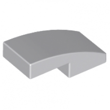 LEGO 11477 Light Bluish Gray Slope, Curved 2 x 1 No Studs