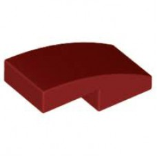 LEGO 11477 Dark Red Slope, Curved 2 x 1 No Studs