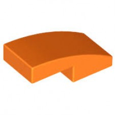 LEGO 11477 Orange Slope, Curved 2 x 1 No Studs