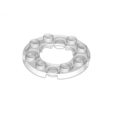 LEGO 11833 Trans-Clear Plate, Round 4 x 4 with 2 x 2 Hole