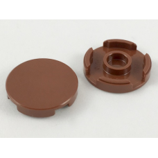 LEGO 14769 Reddish Brown Tile, Round 2 x 2 with Bottom Stud Holder