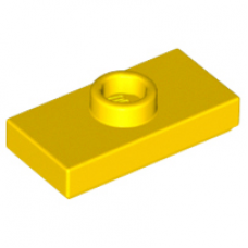 LEGO 15573 Yellow Plate, Modified 1 x 2 with 1 Stud with Groove and Bottom Stud Holder (Jumper)