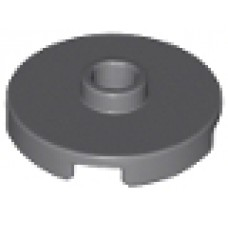 LEGO 18674 Dark Bluish Gray Tile, Round 2 x 2 with Open Stud
