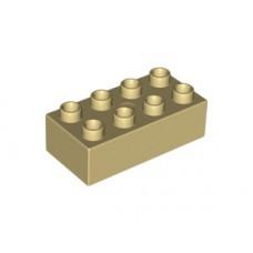 LEGO 3011 Tan Duplo, Brick 2 x 4