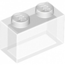 3065 Trans-clear transparant Brick 1 x 2 without Bottom Tube (zonder buisje)