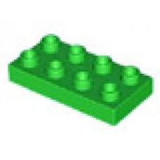 LEGO 40666 Duplo steen  2 x 4 green