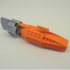 LEGO 48064c02 Orange Electric, Motor with Boat Propeller and Rudder 19 x 4 x 4, 2-Blade Propeller