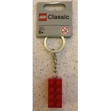 LEGO 850154 2 x 4 Brick - Red Key Chain