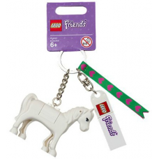 LEGO 850789 Friends Horse Key Chain with Lego Logo Tile, Modified 3 x 2 Curved and Tile 2 x 4 with Friends Pattern (Bag Charm)