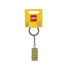 LEGO 850808 2 x 4 Brick - Chrome Gold Key Chain
