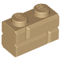 LEGO 98283 Dark Tan Brick, Modified 1 x 2 with Masonry Profile (Brick Profile)