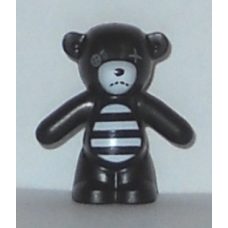 LEGO 98382pb005 Teddy Bear with Dark Bluish Gray Button Eye and White Muzzle and Striped Belly Pattern