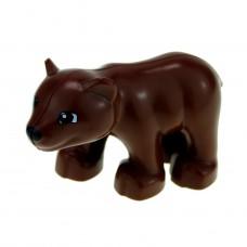 LEGO bearcubc01pb01 Reddish Brown Duplo Bear Cub New Style 30217