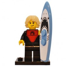 LEGO 71018 Col17-1 Professional Surfer - Complete Set with Stand