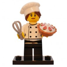 LEGO 71018 Col17-3 Gourmet Chef - Complete Set with Stand