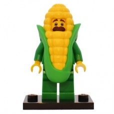 LEGO 71018 col17-4 Corn Cob Guy - Complete Set with Stand