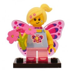 LEGO 71018 Col17-7 Butterfly Girl - Complete Set with Stand