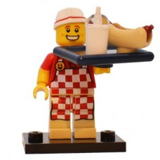 LEGO 71018 col17-6 Hot Dog Man - Complete Set with Stand