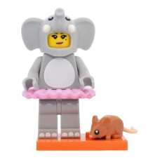 LEGO 71021 Col18-1 Elephant Girl - Complete Set with Stand