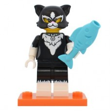 LEGO 71021 col18-12 Cat Costume Girl - Complete Set with Stand