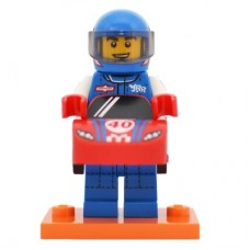 LEGO 71021 col18-13 Race Car Guy - Complete Set with Stand