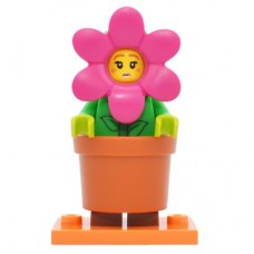 LEGO 71021 col18-14 Flower Pot Girl - Complete Set with Stand
