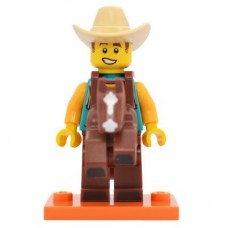 LEGO 71021 col18-15 Cowboy Costume Guy - Complete Set with Stand