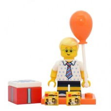 LEGO 71021 col18-16 Birthday Party Boy - Complete Set with Stand