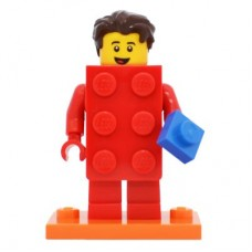 LEGO 71021 col18-2 Brick Suit Guy - Complete Set with Stand