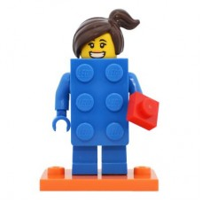 LEGO 71021 col18-3 Brick Suit Girl - Complete Set with Stand