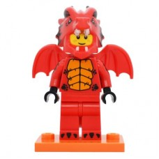 LEGO 71021 col18-7 Dragon Suit Guy - Complete Set with Stand