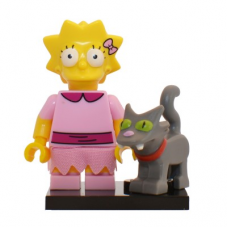 LEGO 71009 Colsim2-3 Lisa Simpson with Bright Pink Dress and Snowball - Complete Set