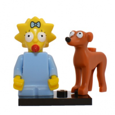 LEGO 71009 Colsim2-4 Maggie Simpson and Santa's Little Helper - Complete Set