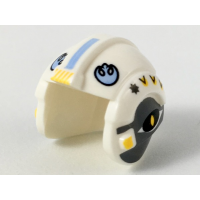 LEGO x164pb21 White Minifigure, Headgear Helmet SW Rebel Pilot with Bright Light Blue Rebel Logo and Dark Bluish Gray Sides Pattern