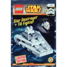 LEGO 911510 Micro Star Destroyer and TIE Fighter Mini Foil Pack SW911510-1